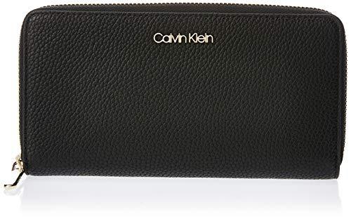 Calvin Klein Neat F19 Lrg Ziparound - Borse a tracolla Donna, Nero...