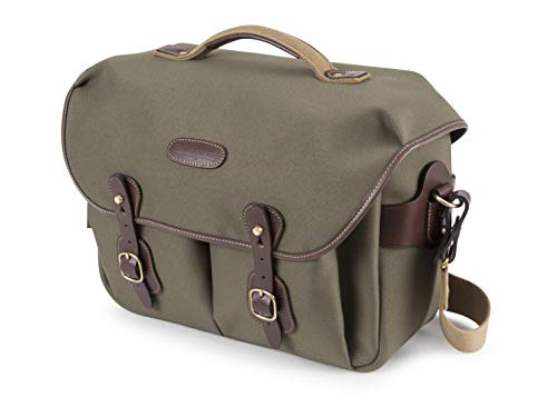 Billingham Hadley One Kamera/Laptop Tasche - • Graugrün FibreNyte / Schokobraunes Leder