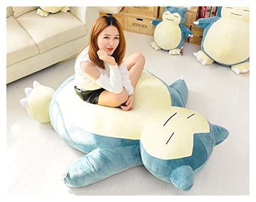 Peluche Gran tamaño 150 cm Anime Animal Suave Pika Snorlax muñeca Peluche Juguetes Almohada Cama Solo Cubierta (sin llenado) con Cremallera para niños Regalo (Height : 30cm Cover)