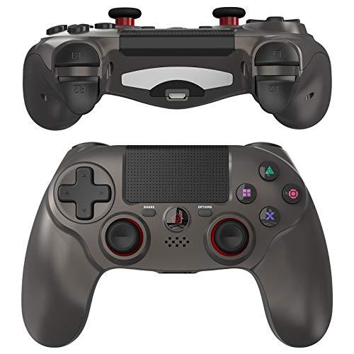 JOYSKY Mando Inalámbrico para PS4,Controlador De Juegos Inalámbrico con Control De Vibración Dual del Motor De Doble Palanca para Playstation 4 (Marrón)