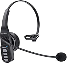 Trucker Bluetooth Headset 5.0 with Microphone Noise Cancelling Wireless Phone Headset 22Hrs Talktime Mute Button for Cell Phones Laptop Office Home Online Class PC Call Center Skype