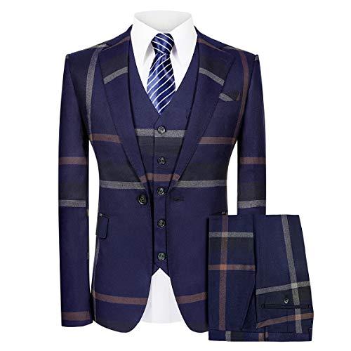 Calvin Klein Men's Slim Fit Suit Separates, Solid Charcoal, 32W x 30L