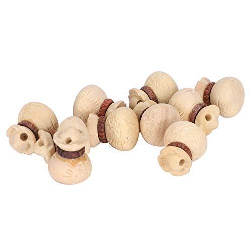 100% nuevo, colgante de madera con bolsa de dinero, 10 piezas de madera de boj colgante de talla de boj de moda fascinante para apreciar la decoración
