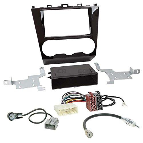 SUBARU FORESTER Face Lift AB 151DIN auto Radio Incasso Set con Subaru cavo di collegamento, Adattatore antenna e mascherina per autoradio (Nero lucido)