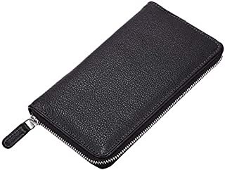 Ladies Purse Genuine Leather I Women's Clutch Wallet Holder Case I With Multiple Card Slots Zipper Closure and Roomy Compa...