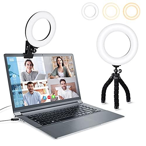 LOVVIY Aro Anillo de Luz Led para Fotografia, Selfie Light Ring, Anillo Luz Video Movil de 360 °,3 Modos de Iluminación 10 Brillos, Adecuado para Youtube, Tiktok, Video, Selfie, Maquillaje