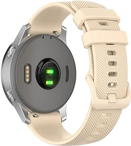 Classicase compatível com Garmin Forerunner 245 / Forerunner 245 Music Pulseira de Relógio, Pulseiras de Reposição de Pulseira de Silicone Macio Premium (20mm, Pattern 8)