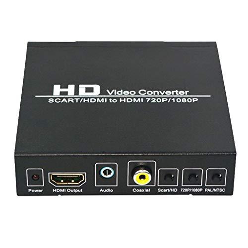 IPOTCH SCART Componente VGA a 720 / 1080p Convertidor Coaxial de Escaneo de Código Abierto