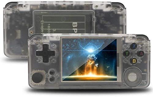 Anbernic Console de Jeu Portable avec 3000 Jeux Classiques intégrés + 2109 Jeux système Open Source, Dual Core 16G Emulator 3.0 '' Support de Jeu TV, Console de Jeux vidéo Portable (White)
