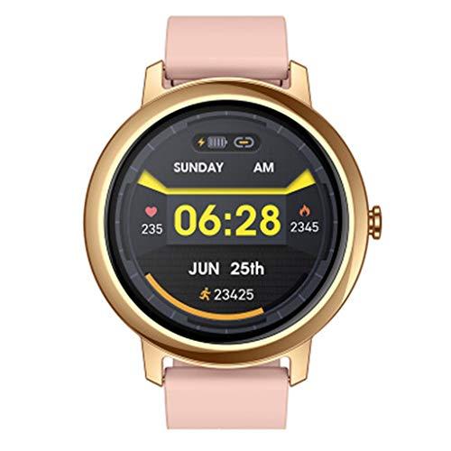 Relojes Reloj Inteligente Reloj Inteligente con GPS con Pantalla Táctil de 1.3', Duración de la Batería de 7 Días, Actividades al Aire Libre y Bajo Techo, Impermeable (Color : Gold)