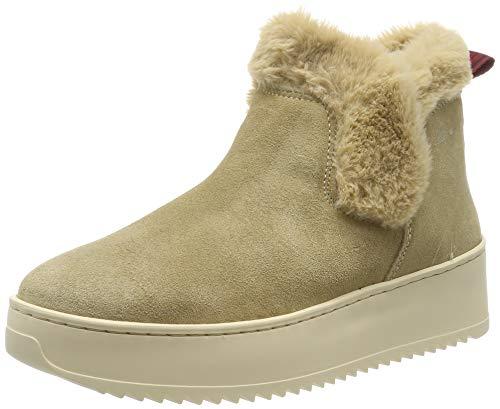 Marc O'Polo Damen 90915345001318 Hohe Sneaker, Beige (Sand 715), 36 EU