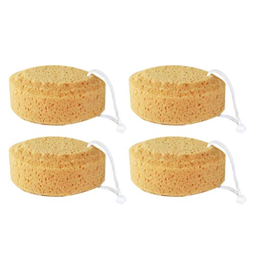 FRCOLOR 4 Piezas de Esponja de Ducha de Baño Esponja de Lufah Suave Exfoliante de Cuerpo Esponja de Luffa para Cuerpo de Limpieza para Mujeres Y Hombres