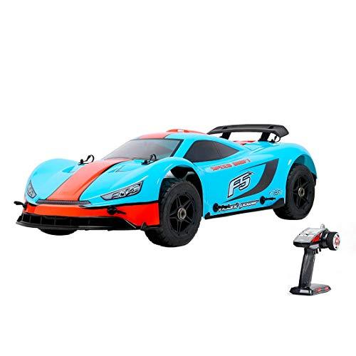 HWJF 4WD RC Gasolina Supercar, 1/5 de Coches de Juguete de Gas Todo Terreno con Motor de Gasolina 32cc para el Adulto, 2.4G regulador de Radio Incluyó,Azul