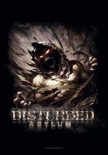 empireposter Disturbed - Big Fade Asylum - Posterflagge 100% Polyester - 75x110 cm