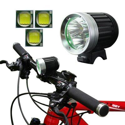 Lampada a 4 modalità/Lampada Frontale con 3X CREE XM-L T6 LED Light, Flusso Luminoso: 1200lm