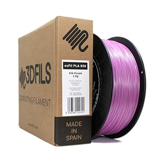 3DFILS - Filamento PLA Seda para impresión 3D (750 g, Lila Seda)