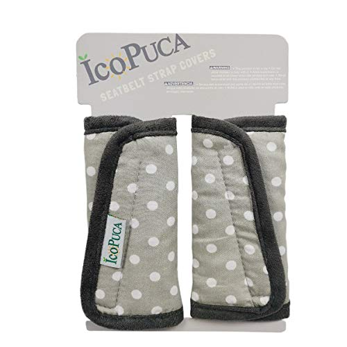 Car Seat Strap Pads Covers for Baby Kids, Seat Belt Covers Cushion for boy Girl, Protect Neck and Shoulder rubbing, Anti-Slip Design, fit Stroller/Carrier/Pushchair; Soft Cotton Touch, dot Pattern