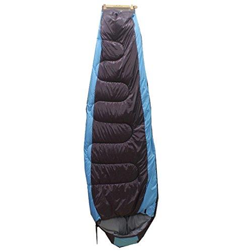 Xin S 3 Saison Sac De Couchage Momie En Plein Air Imperméable à L'eau Léger Respirant Confortable Adapté Pour Le Camping La Randonnée. 3 Couleurs,Blue-(190+25)*78*55cm