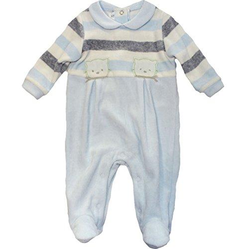 Minibanda Baby Strampler in Geschenkbox hellblau T684 (68-6M, hellblau)