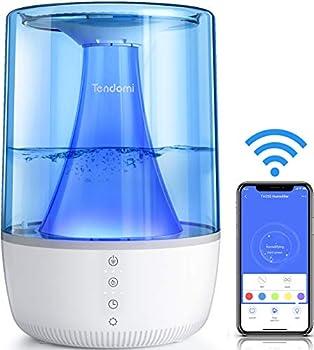 L'Application de contrôle à distance et Horaires: L'humidificateur intelligent Tendomi vous permet de personnaliser le temps d'hydratation et les niveaux de brouillard via l'application de votre smartphone. En outre, il dispose de programmes pour all...