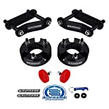 Supreme Suspensions - 3' Front + 2' Rear Lift Kit for 2005-2020 Nissan Frontier and 2005-2015 Nissan Xterra 2WD 4WD Front Lift Strut Spacers + Rear Lift Shackles + Bump Stops (Black)