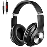 9S Bluetooth Headphones Over-Ear, CVC 6.0 Noise Cancelling Wireless Headphones with Mic, 60 Hrs Playtime Hi-Fi Stereo Sound Foldable Headphones with Volume Control, FM for Phone/PC