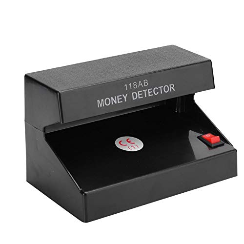 detector billetes falsos rotulador billetes falsos Probador de billetes falsos de billetes de banco portátil de fluorescencia única con detector de dinero UV para banco contador de billetes