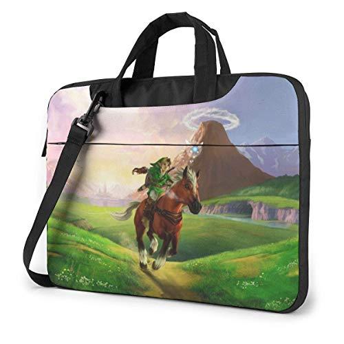 15.6″Durable Hombro Mensajero Bolsa maletín PC La Leyenda de Zelda Moda Impermeable Ordenador Portátil/portátil/Tablets