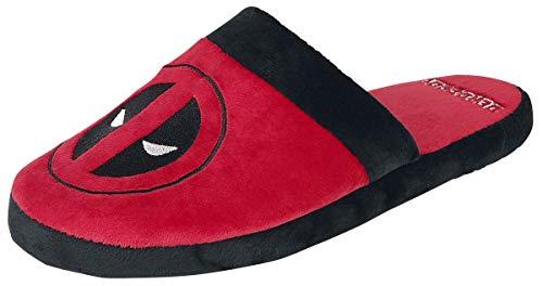 Deadpool Logo Hausschuh rot/schwarz one size