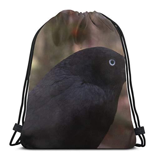 Perfect household goods Raven Birds - Mochila ligera con cordón para gimnasio, viajes, yoga, bolsa de hombro para senderismo, natación, playa