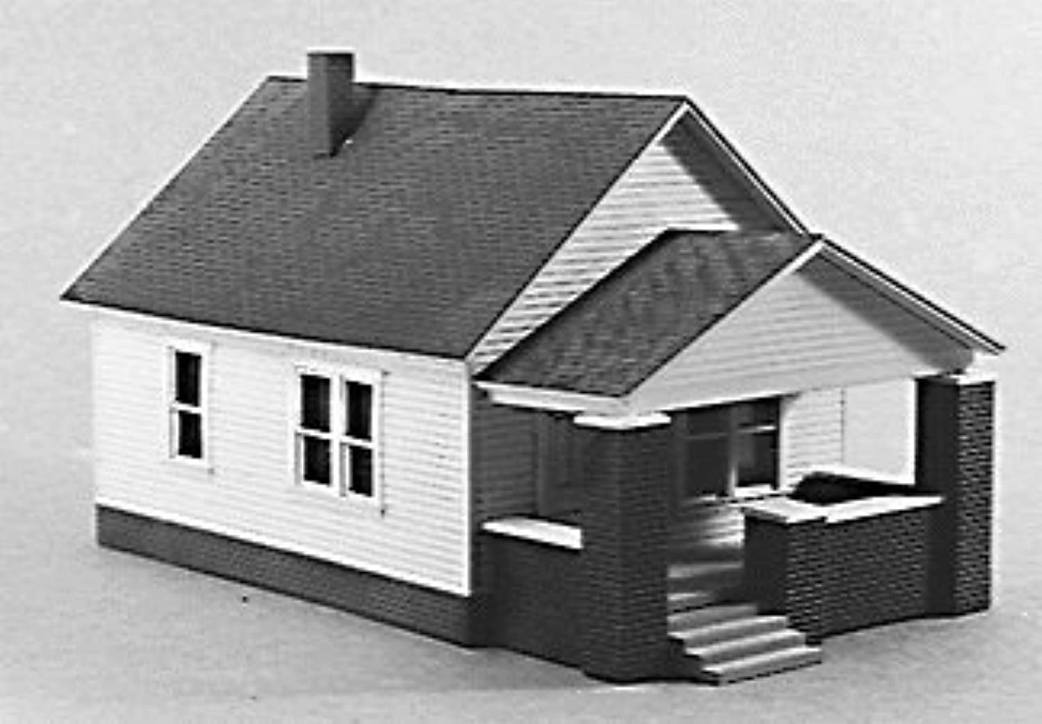 Rix Products  OneStory House w Front Porch  Kit  3 x 43 8  7.7 x 11.2cm  HO by USA