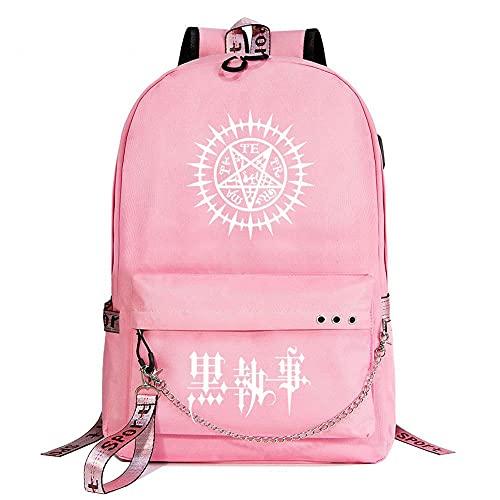 Black Butler Anime Sternenhimmel Lightning Plaid Prints Rucksack Daypack Laptop Tasche Schultasche