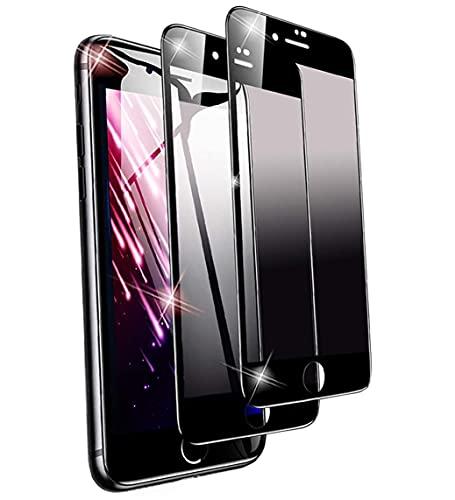 【2枚セット】 iPhone8 Plus / iPhone7 Plus ガラスフイルム アイフォン8plus 覗き見防止 iphone8 plus フイルム 強化ガラス プライバシー防止系列 液晶保護フィルム 全面保護 iphone7 plus 保護フィルム 5.5インチ