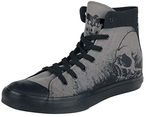 Black Premium by EMP Walk The Line Unisexe Baskets Hautes Gris EU39, Tissu,