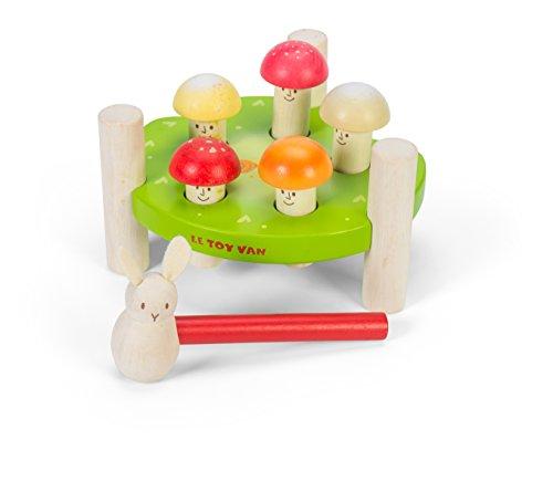 Le Toy Van - Petilou Wooden Educational Mr Mushroom Hammer Game | Suitable...