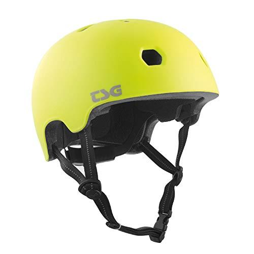 TSG Kinder Meta Solid Color Helm, Satin Acid Yellow, XXS/XS