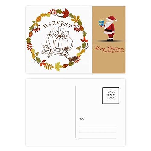 Blad Thanksgiving dag slinger patroon kerstman ansichtkaart Set Thanks kaart mailen 20 stks