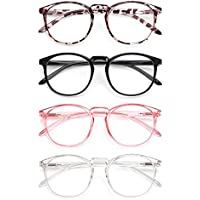 4-Pack IBOANN Blue Light Blocking Glasses with Clear Lens