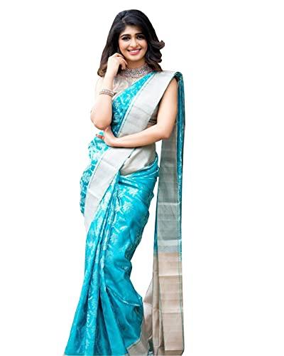 Avantika Fashion Women's Kanjivaram Soft Litchi Silk Saree With Blouse Piece