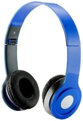 SoundStrike 3.5mm Foldable Headphone Headset for Dj Headphone Mp3 Mp4 Pc Tablet sandisc Music Video and All Other Music Players (Sky Blue)