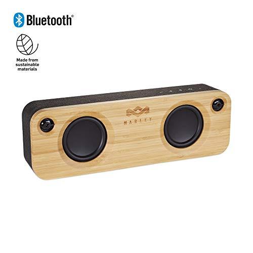 House of Marley EM-JA006-SBA - Altavoces Bluetooth portátiles, Color Negro