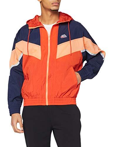 NIKE M Nsw He Wr+ Jkt Hd Unld - Chaqueta deportiva para hombre, Hombre, Chaqueta deportiva., CZ0781, Mantra Orange/Obsidian/Orange Frost, L