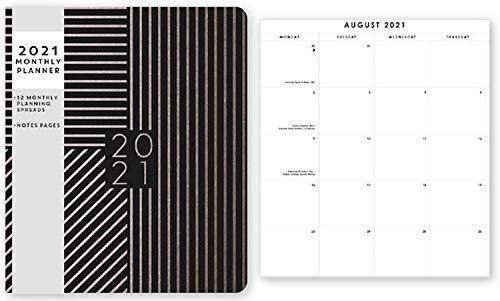 2021 Monatsplaner, Monatsansicht, Kalender, Home Office, Organizer
