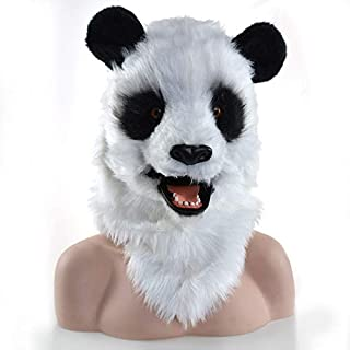 Masks Carnival Holiday Party mask Mobile Mouth National Treasure Panda Imitation Animal mask Halloween and Party Accessories Furry Animal Masks ( Color : White )