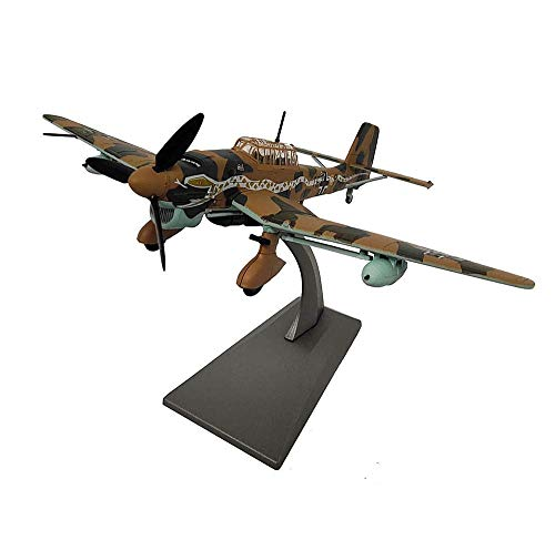 DressU Longevidad 1/72 Escala Modelo de los Aviones, Militar Junkers Ju 87 Stuka Bombardero de aleación Modelo, coleccionables y los Regalos for Adultos, 8.3inch X 6.3Inch Durabilidad