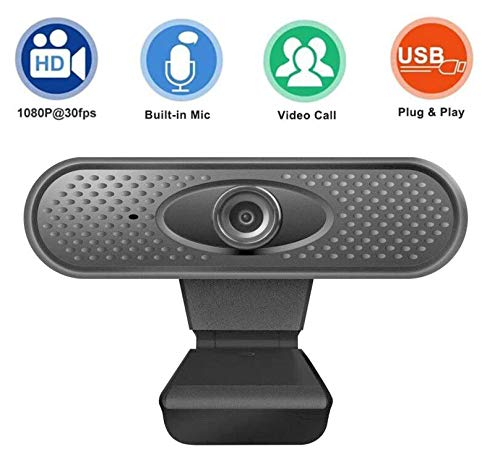 Webcam with Microphone,Full HD 1080P Web Camera, Streaming Computer Web Camera with Wide View Angle, USB Camera for PC/Laptop/Desktop, for Video Conferencing and Video Chatting-56