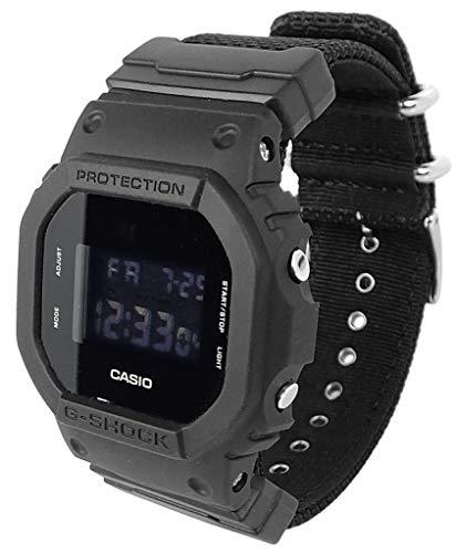 Casio G-Shock DW-5600BBN-1ER - Reloj digital para hombre con alarma multifunción, color negro