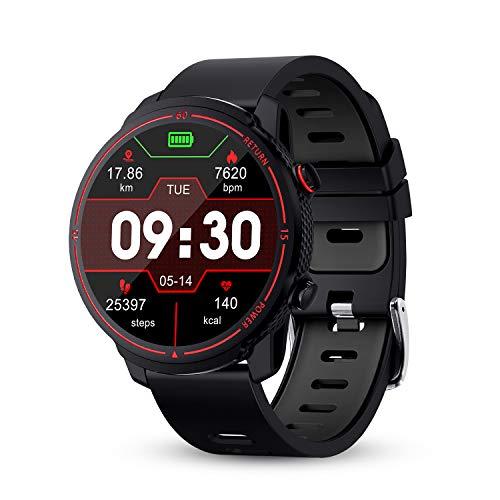 GOKOO Smartwatch Uomo Orologio Intelligente Tocco schermo intero Tracker Sportivo 9 Modalità Sportive Orologi Fitness Compatibile con il Sistema IOS Android