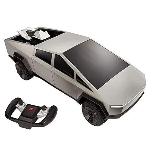 Hot Wheels Ciber camión Coche de Juguete Radio Control, Regalo para niños +6 años (Mattel GYD25)