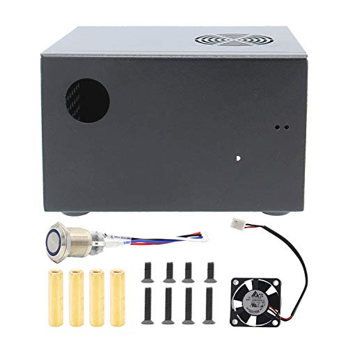 Geekworm Raspberry Pi X825-C6 Matching Metal Case+Switch+Cooling Fan for X825 SSD&HDD SATA...